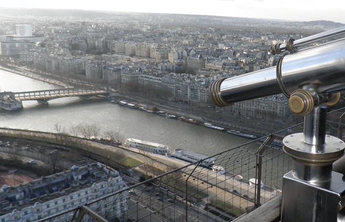 Vista de París y el Sena cinco días en París