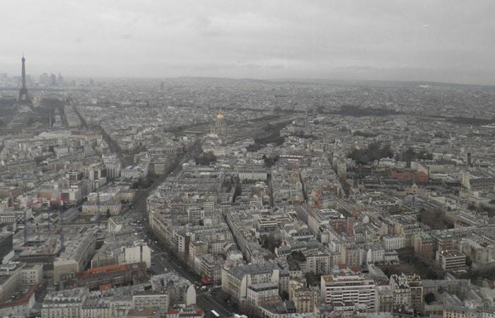 Vista desde el restaurante Le Ciel de París Torre de Montparnasse