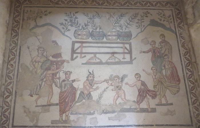 Mosaico de Hércules en la Villa Romana del Casale Sicilia