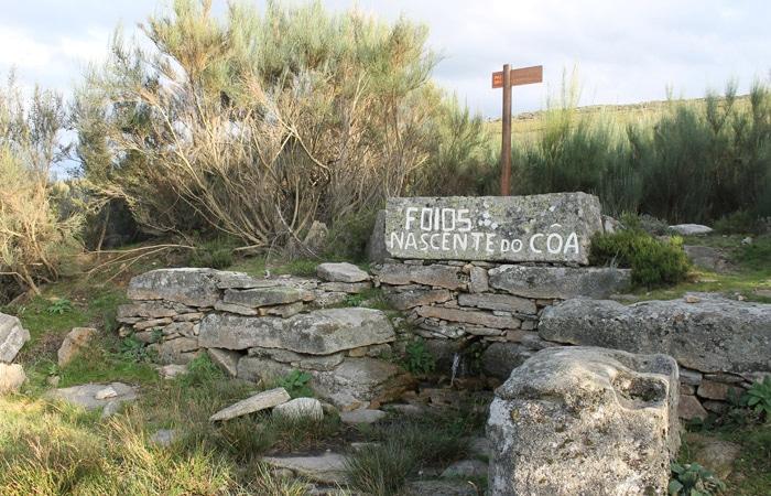 Nacimiento del río Coa en Foios Portugal