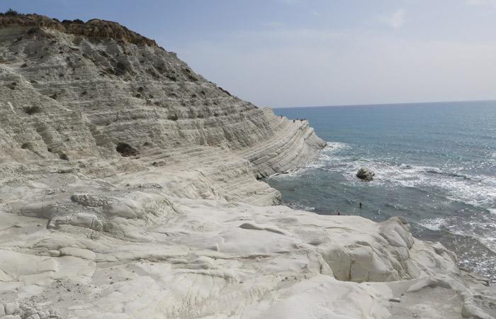 El acantilado y el mar cómo llegar a Scala dei Turchi