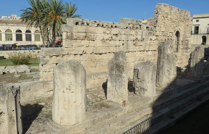 Templo de Apolo en Ortigia turismo en Siracusa