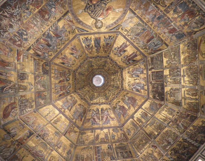 Bóveda del Baptisterio de San Juan qué visitar en Florencia