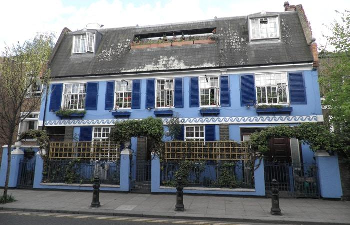 Casa típica del barrio de Nothing Hill tres días en Londres
