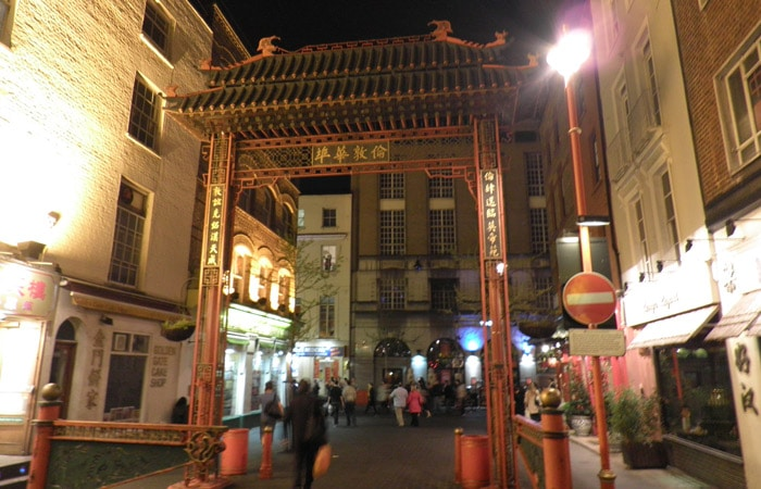 Entrada a Chinatown ruta por Londres