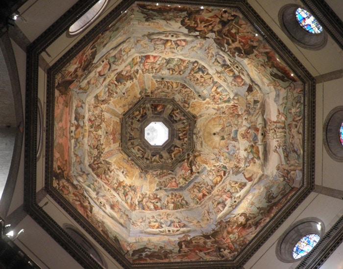 Frescos del interior de la cúpula de Brunelleschi qué visitar en Florencia