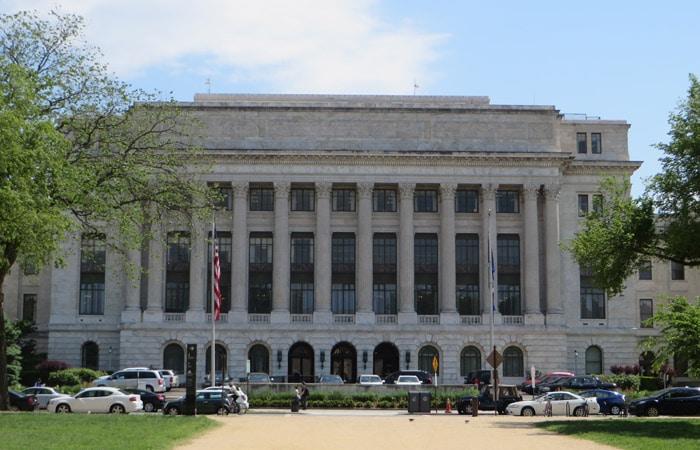 Fachada del Departamento de Agricultura de los Estados Unidos Washington