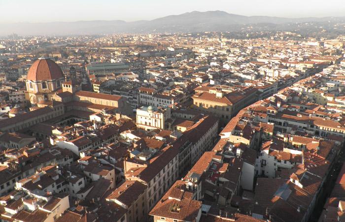 Vista desde el Campanario de Giotto qué visitar en Florencia