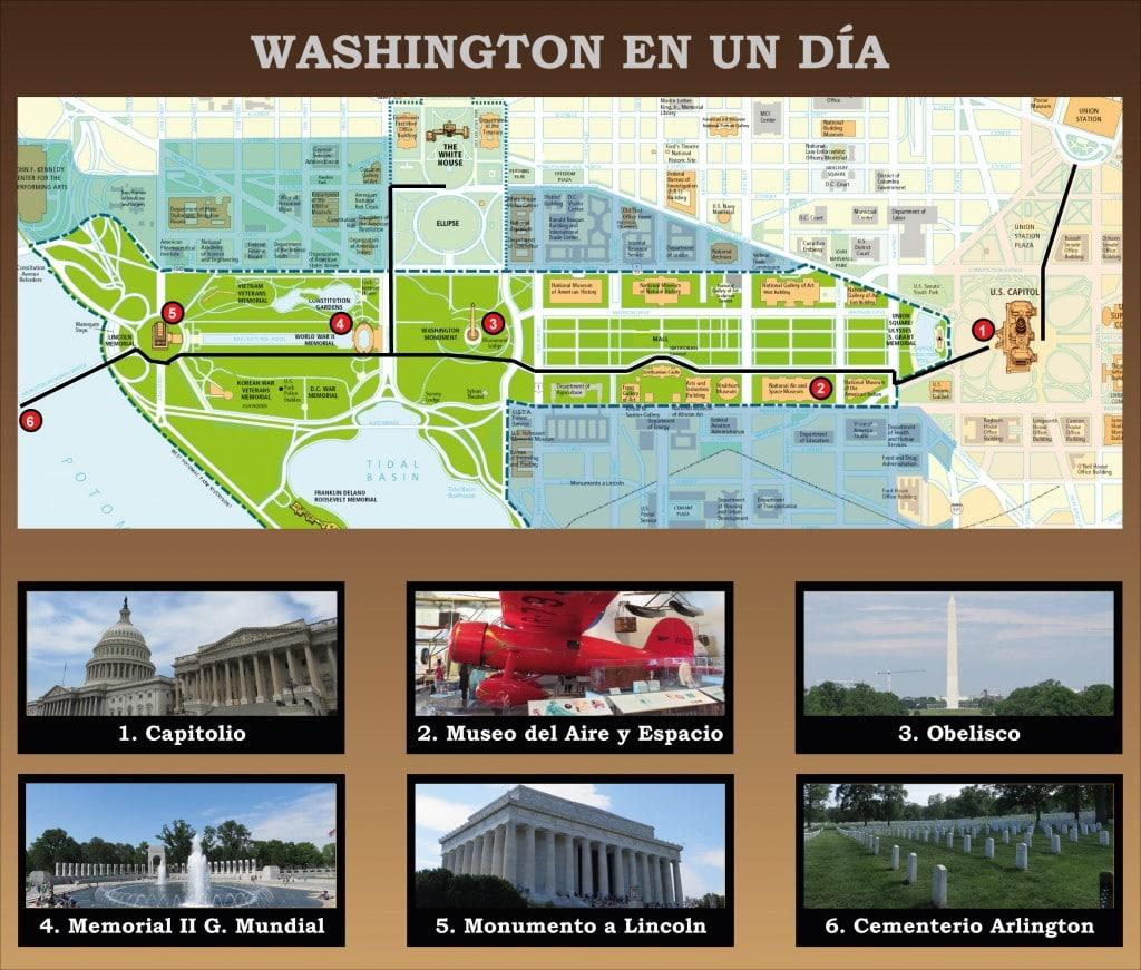 Itinerario de un día en Washington
