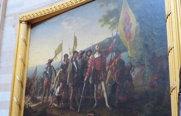 Landing of Columbus de John Vanderlyn en el Capitolio Washington