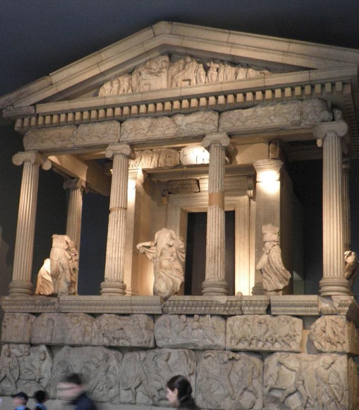 Monumento de las Nereidas en el British Museum museos de Londres