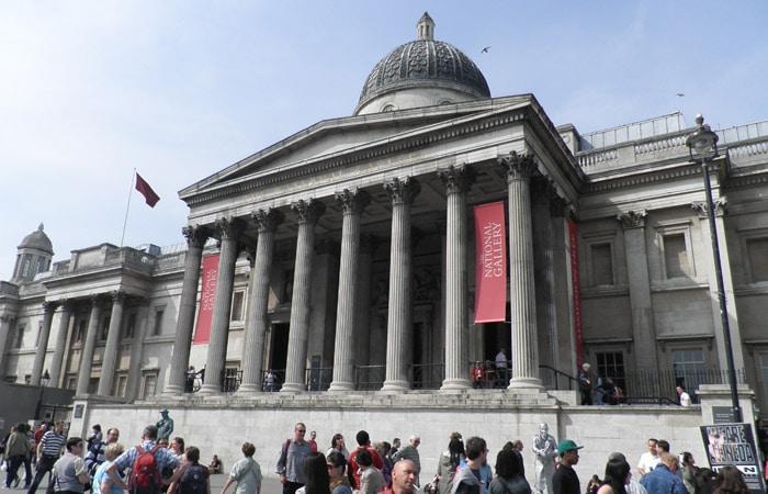 Exterior de la National Gallery ruta por Londres