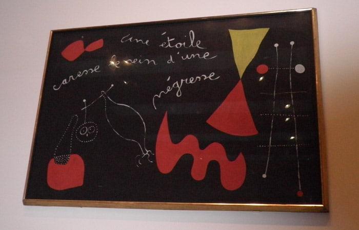 Poema Pintado de Miró en la Tate Modern museos de Londres