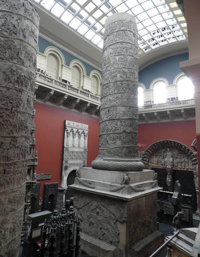 Réplica de la Columna de Trajano en el Victoria & Albert Museum Londres