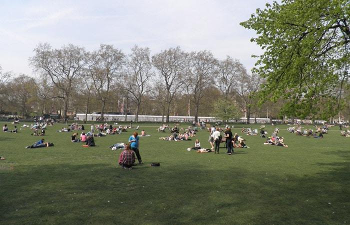 St. James Park ruta por Londres
