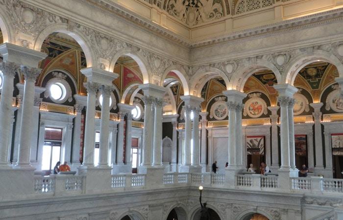 Vestíbulo de la Biblioteca del Congreso Washington