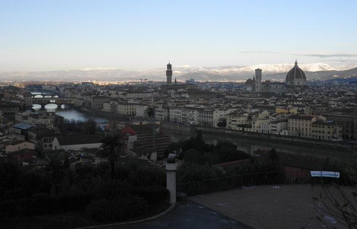 Vista de Florencia desde la Piazzale Michelangelo