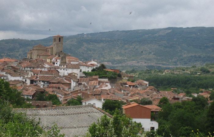 Vista de Hervás desde el inicio de la ruta La Chorrera Hervás