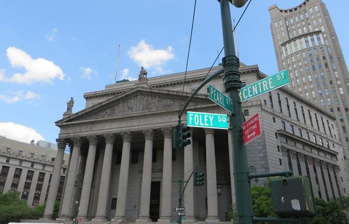 New York County Courthouse contrastes de Nueva York