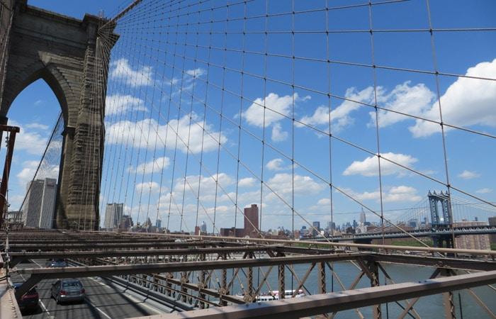 Puente de Brooklyn contrastes de Nueva York