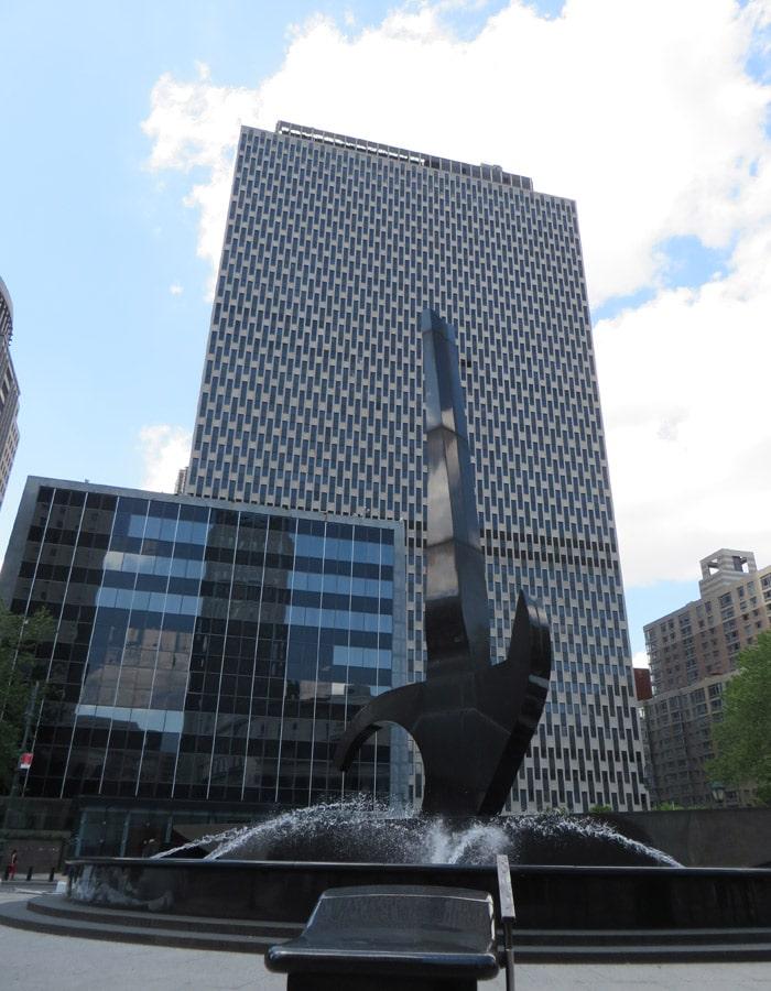 Rascacielos de Federal Plaza contrastes de Nueva York