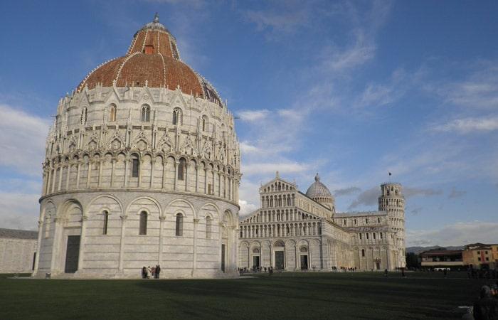 Baptisterio, Duomo y Torre de Pisa