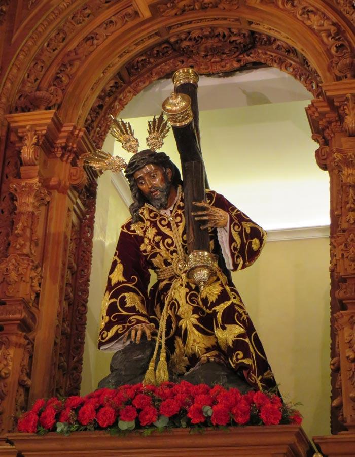 Cristo de las Tres Caídas en la Capilla de los Marineros