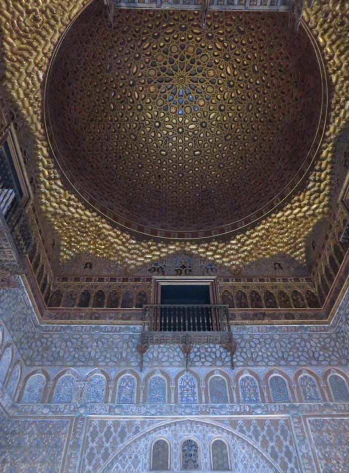 Cúpula de Salón de Embajadores de los Reales Alcázares monumentos de Sevilla