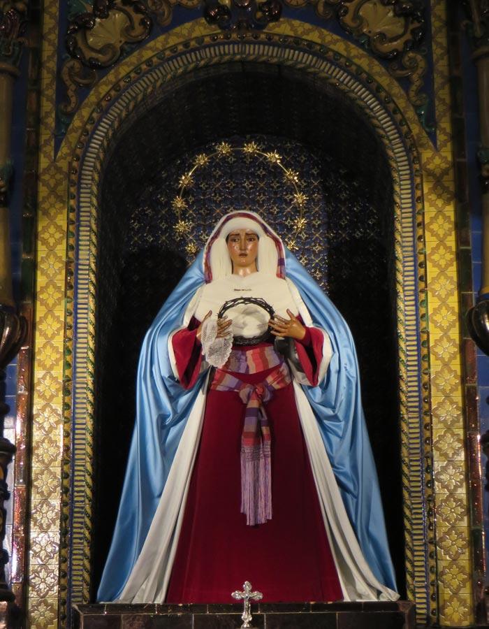 María Santísima de la O en la iglesia de Nuestra Señora de la O vírgenes de Sevilla