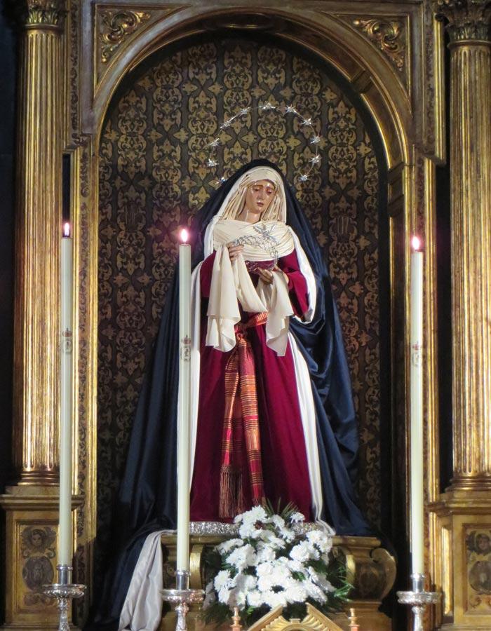 Nuestra Señora del Valle en la iglesia de la Anunciación vírgenes de Sevilla