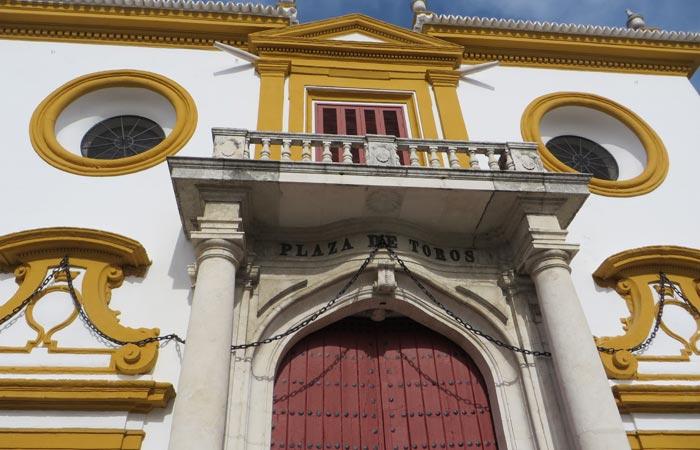 Exterior de la Puerta del Príncipe de la Maestranza monumentos de Sevilla