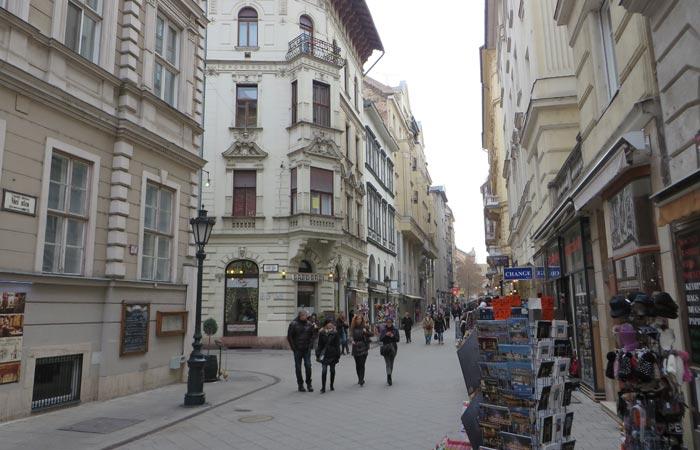 Váci utca Budapest