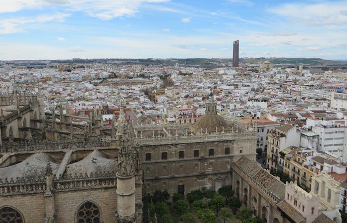 Vista desde la Giralda monumentos de Sevilla