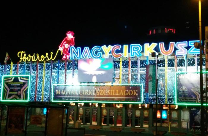 Circo de Budapest en el parque Városliget