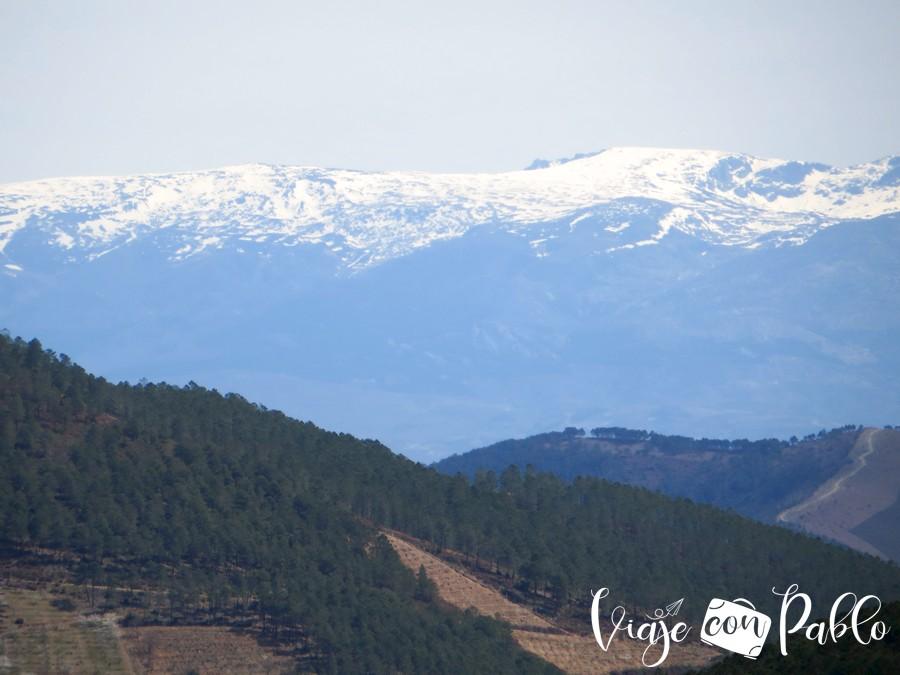 Nieve en la Sierra de Gredos vista desde el Mirador del Ceño