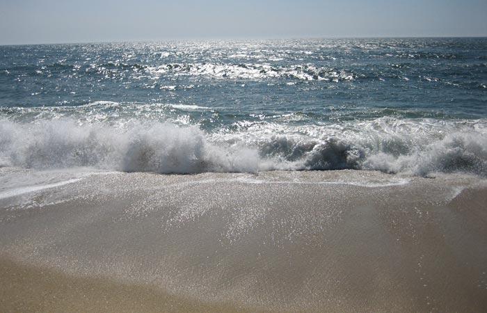 Oleaje en Costa Nova playas de Aveiro