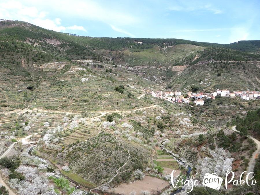Panorámica del valle por el que discurre la senda Majá Robledo