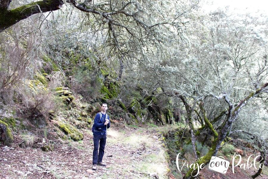 Tramo más bello de la senda ruta Monsagro-El Vao