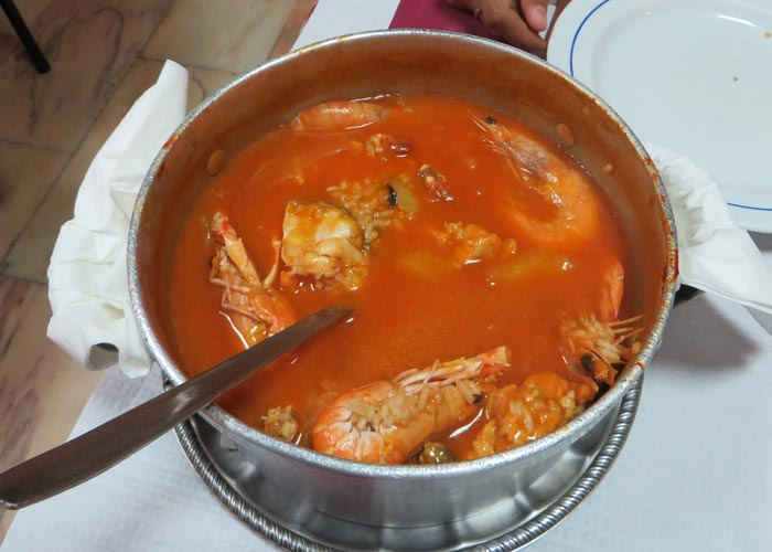 Arroz con marisco del Restaurante Uma comer en Lisboa