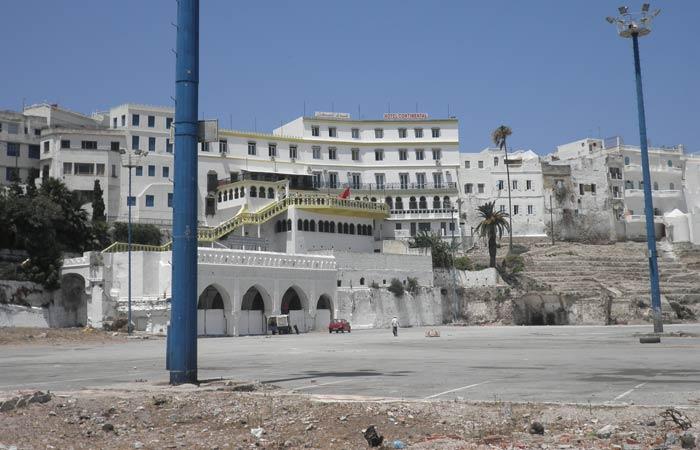 Vista del Hotel Continental un día en Tánger