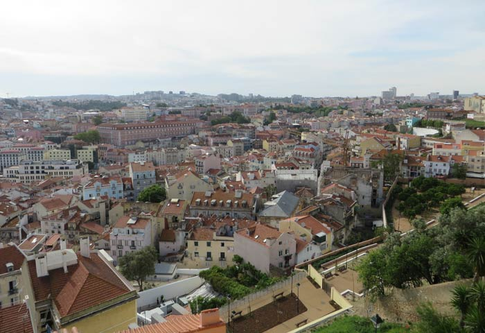 Vista desde el Mirador da Senhora do Monte miradores de Lisboa