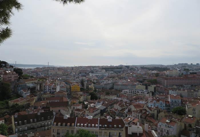 Panorámica desde el Mirador de Gracia miradores de Lisboa