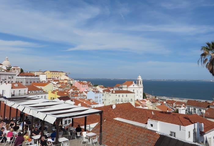 Vistas desde el Mirador Portas do Sol miradores de Lisboa