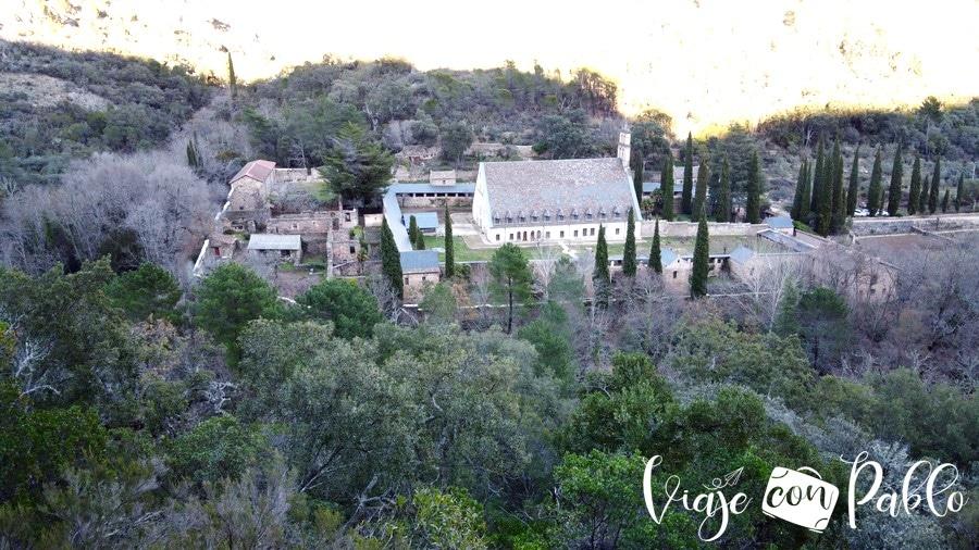 Monasterio de Las Batuecas, a vista de dron desde el mirador de San José