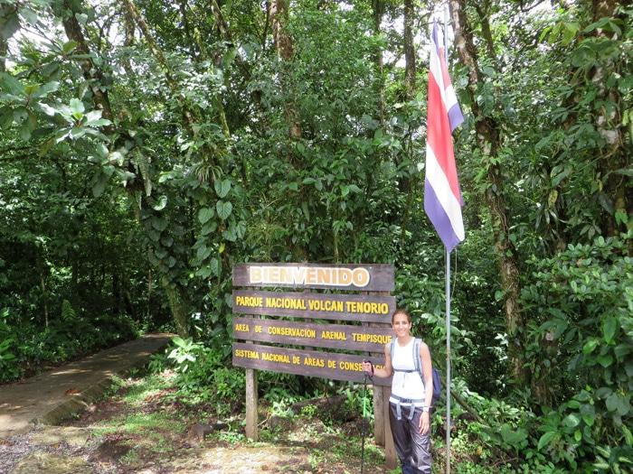 Entrada al Parque Nacional del Volcán Tenorio