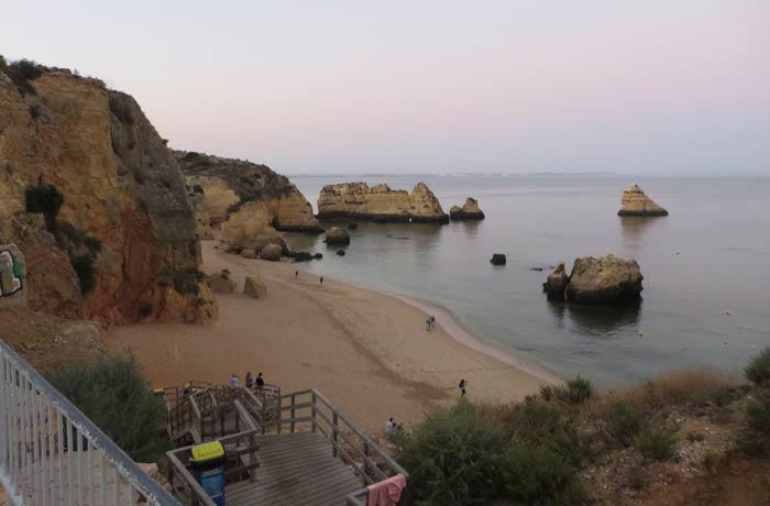 La playa de Dona Ana, al atardecer mejores playas del Algarve