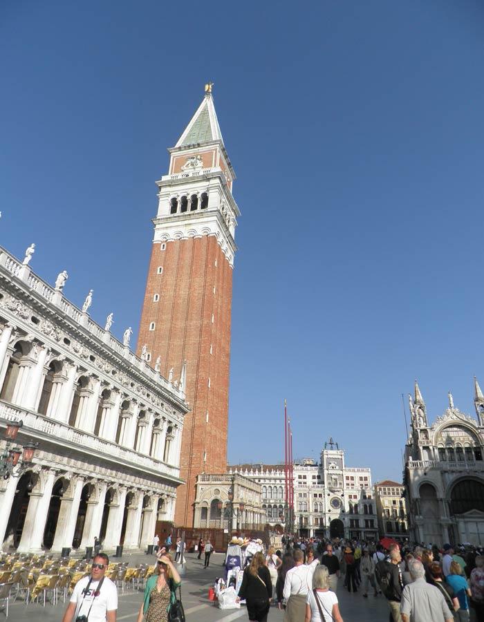 Vista de la Plaza de San Marcos de Venecia plazas más bonitas de Europa