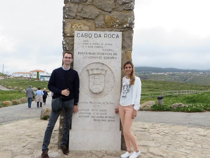 Monolito en forma de cruz en el Cabo da Roca