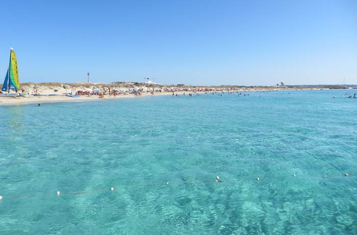 Ses Illetes desde un barco Playas de Formentera