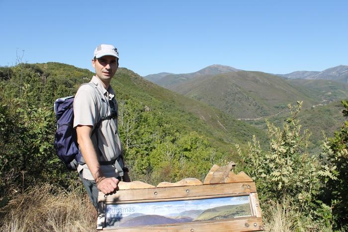 Panel informativo en el mirador de la Sierra de las Quilamas